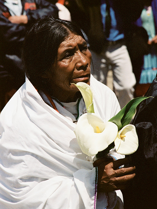 *18 Indigenous Woman with Calla Lillies