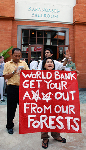 20  World Bank protest, UN Climate Convention, Bali, Indonesia