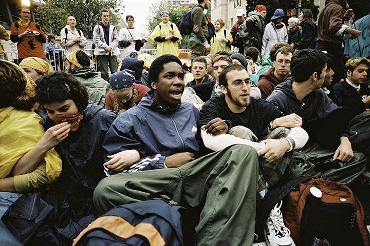 22  Blockade at World Bank protest, Washington, DC