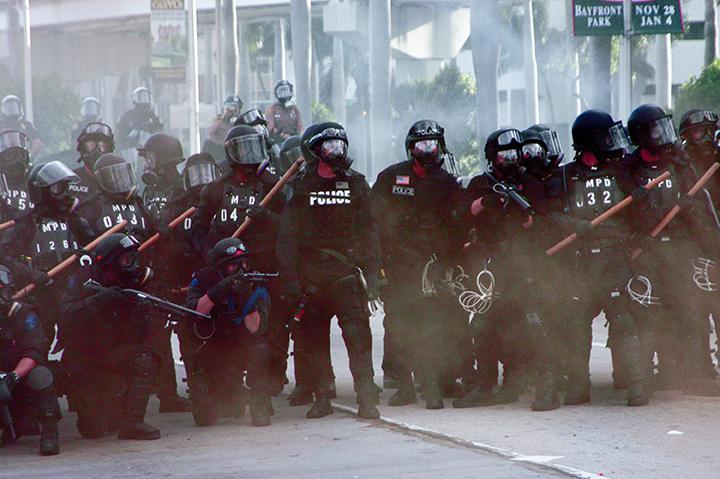 23  Police fire on protesters, anti-FTAA demo, Miami, FL