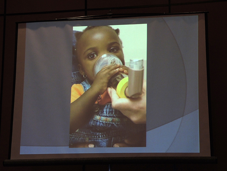 Child suffering from asthma