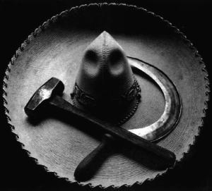 Mexican sombrero with hammer and sickle, Tina Modotti, Mexico City, 1927