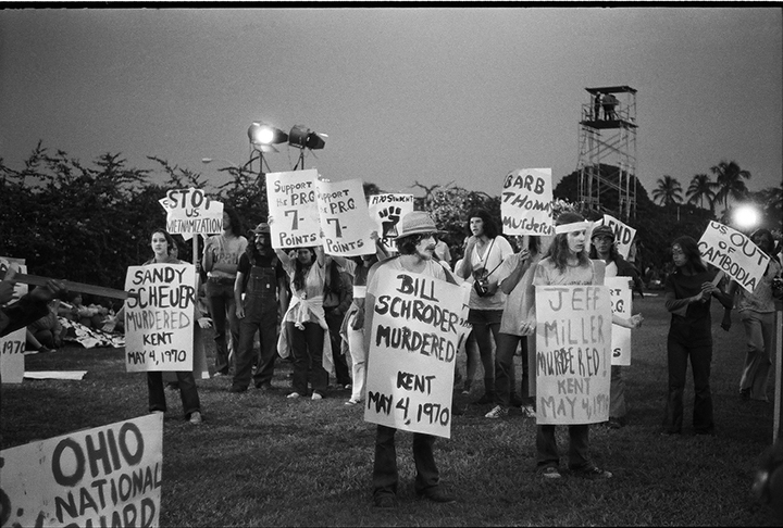 Protest at the 1972 Republican National Convention in Miami Beach, FL. Photo: Langelle