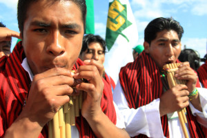 Indigenous protesters at UN climate negotiations in Cancun 2010) Photo: Luka Tomac