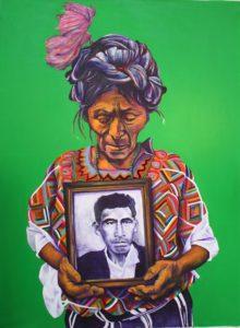 Doña Clara by Cassandra - acrylic on canvas